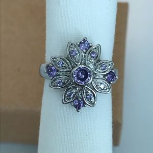 Size 5.5 Ring Purple Crystal With Box *Free gift*